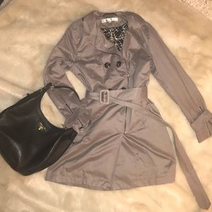 Kenneth Cole New York Zippered Trench Coat